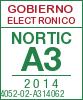 Sello de certificación de la A3:2014 con el NIU 14052-02-A314062