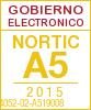 Sello de certificación de la A5:2015 con el NIU 14052-02-A519008