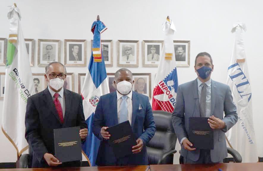 ITLA y Parque Cibernético firman convenio con el INSPODOM para modernizar y transformar la entidad.